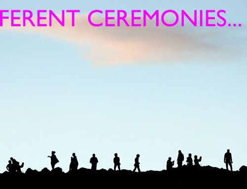 Different types of ceremonies are growing rapidly