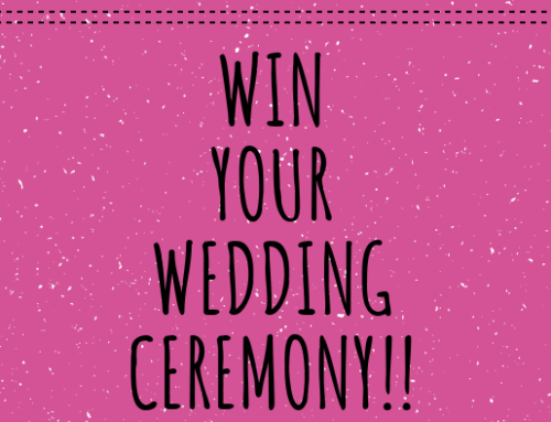 COMPETITION TIME:  WIN YOUR WEDDING CEREMONY!!